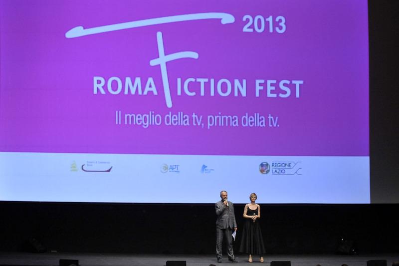 Steve Della Casa (Direttore Roma Fiction Fest) e Serena Autieri (madrina della manifestazione)