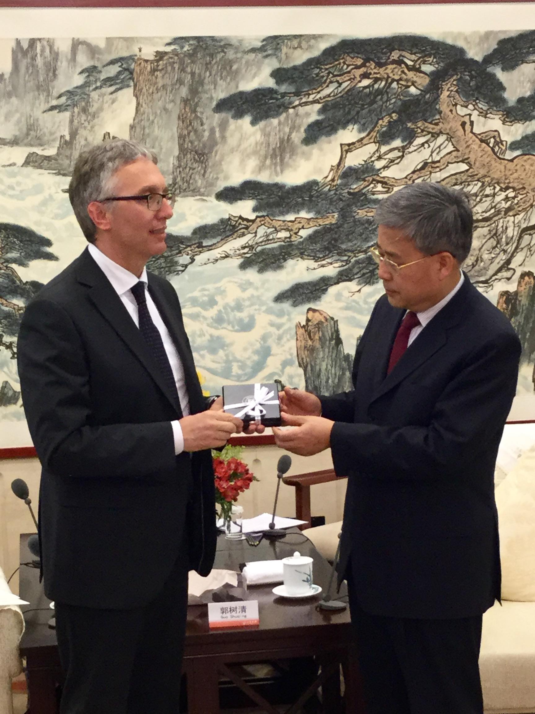 ceriscioli e il governatore dello Shandong