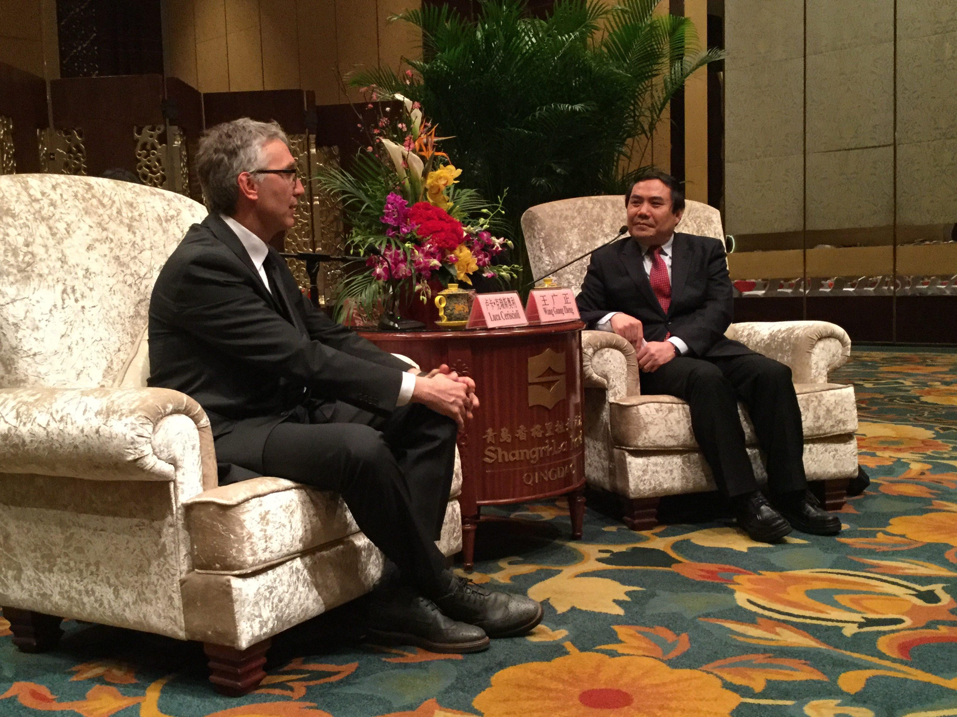 ceriscioli e il sindaco Qingdao Wang