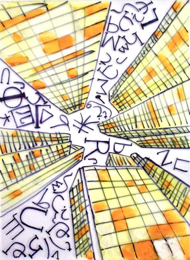 La copertina di Samuele Gamba, giovane artista dislessico