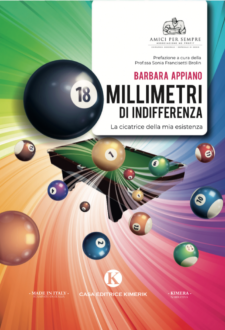 """Copertina di """"18 millimetri di indifferenza"""", libro di Barbara Appiano"""