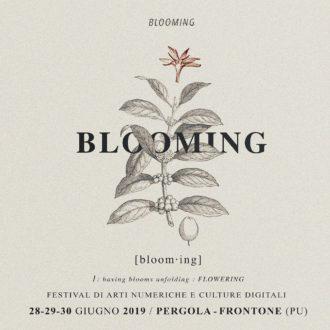 Blooming-III edizione del Festival di arti numeriche e culture digitali-locandina