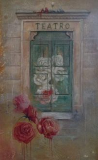 Manola Caribotti, Di rosso le pitturiam. Olio su tela 2019