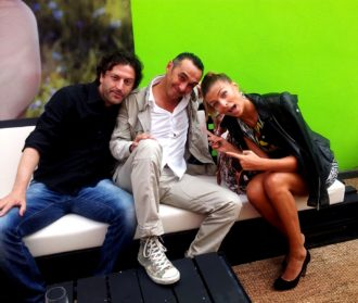 Igor Nogarotto con Giacobazzi e Cristina Chiabotto
